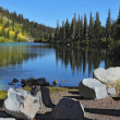 "The shallow ""Mammoth Lake"" - Stock Photo"