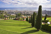 Bahay gardens and Mediterranean sea — Stock Photo