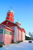 Landelijke houten kerk — Stockfoto