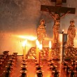 Candles in orthodox church — Stock Photo