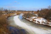 Ice on river — Stock Photo