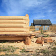 Construction of the new wooden building — Stock Photo #6836901