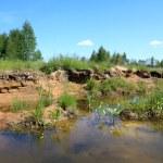 alten sandigen steinbruch — Stockfoto