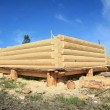 Onstruction of the new wooden building — Stock Photo