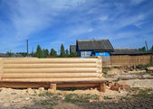 Onstruction of the new wooden building — Stock fotografie