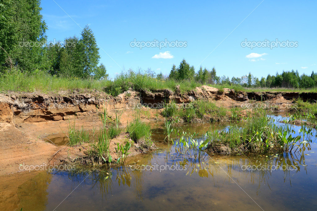 Old sandy quarry — Stock Photo #6837048