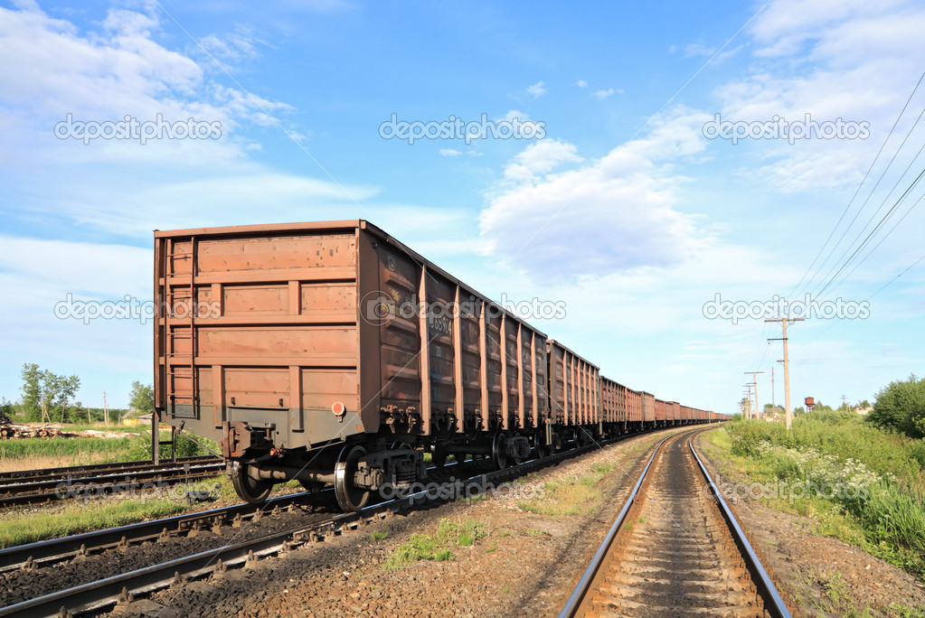 Cargo railway coach — Stock Photo #6838570