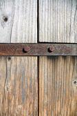 Aging door — Stock Photo
