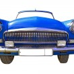 retro auto op witte achtergrond — Stockfoto