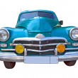 图库照片: Retro car on white background