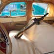 Interior retro car — Stock Photo