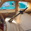 Interior retro car - Stock Photo