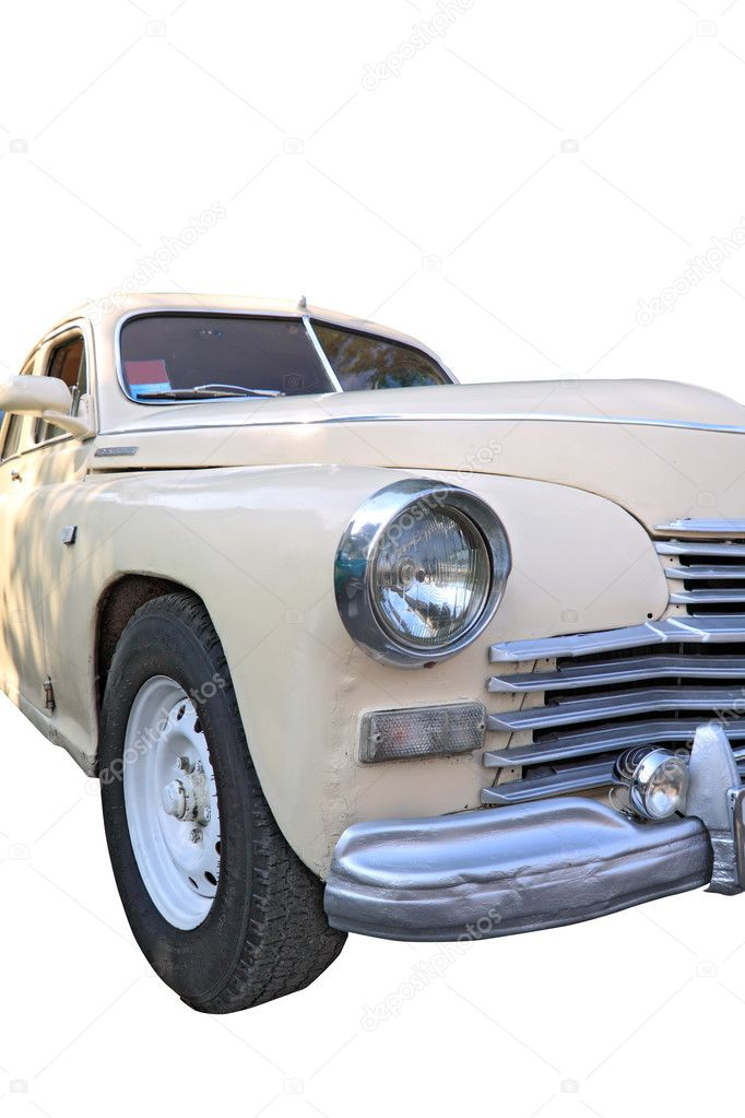 Retro car on white background — Stock Photo #6913166
