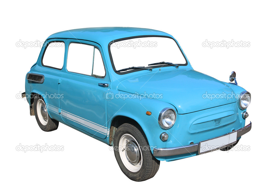 Retro car on white background  Stok fotoraf #6913197