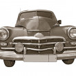 Retro car on white background — Foto de Stock