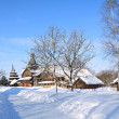 Stock Photo: Wooden chapel in winter village