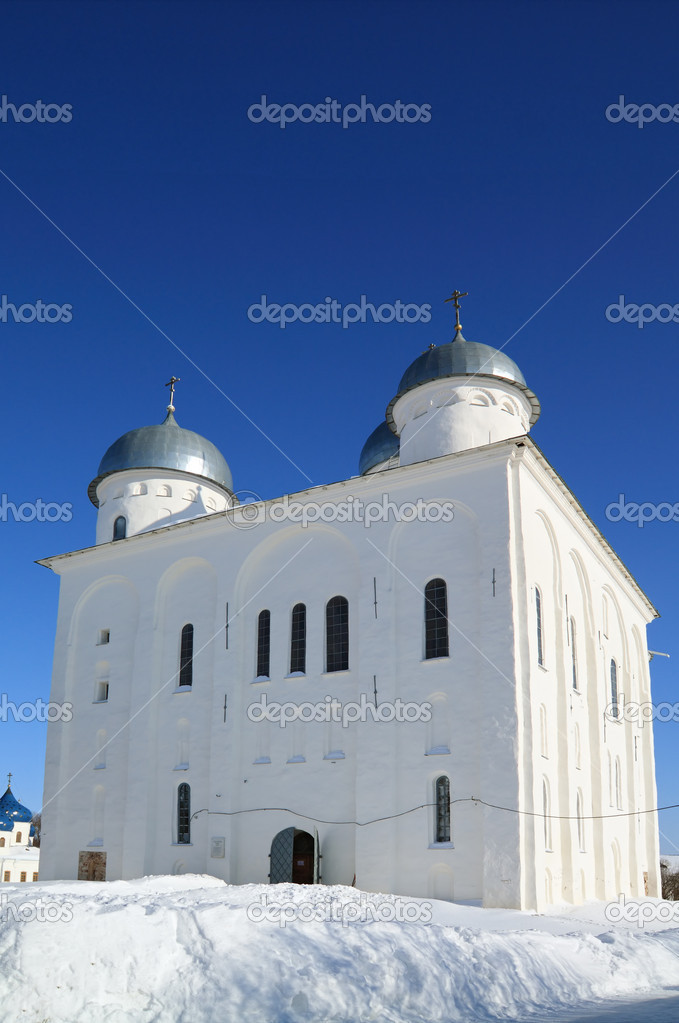 Christian church on territory of the orthodox priory  — Stock Photo #6941109