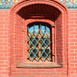 Window in brick house — Stock Photo