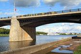 Bridge through river — Stock Photo