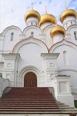 Christian orthodox church on cloudy background — Stockfoto