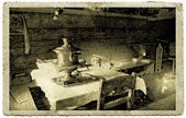 Retro interior on old photography — Stock Photo