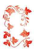 Autumn ornament on white background — Stock Photo