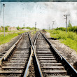 Railway on grunge background — Stock Photo #7946925