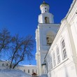 Bell tower of the ancient orthodox priory — Stock Photo
