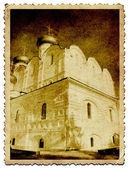 Christian orthodox church on old photography — Stock Photo