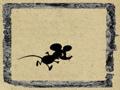 Mouse on grunge background — Stock Photo