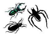 Bug de silhueta vector sobre fundo branco — Vetorial Stock