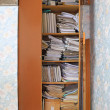 Business papers in old closet — Stock Photo #7950848
