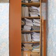 Business papers in old closet — Stock Photo