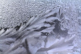 Ice on window — Stock Photo