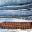 Jeans heap — Stock Photo