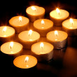 Spa candles - Foto Stock