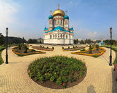 Uspensky Cathedral. Omsk. Russia. — Stock Photo