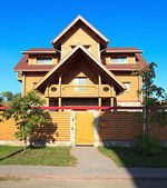 Wooden cottage. — Stock Photo