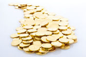 Heap of Gold Coins. — 图库照片