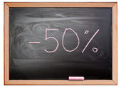 Fifty percent — Stock Photo
