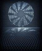 Fan turbine background — Stock Photo