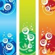Set of floral banners — Stock Vector #7297893