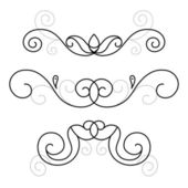 Set of decorative ornament — Stock Vector