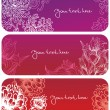 Royalty-Free Stock Vector Image: Flowers banners