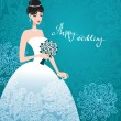 Beautiful bride - Stock Vector