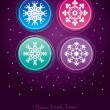 Christmas greeting card — Imagen vectorial