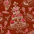 Royalty-Free Stock Vector Image: Seamless sweets pattern