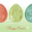 Easter eggs background — Stock Vector #7319356
