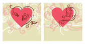 Valentine design. Card of valentine day — Vetor de Stock