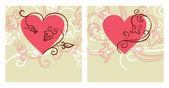 Valentine design. Card of valentine day — Stock Vector